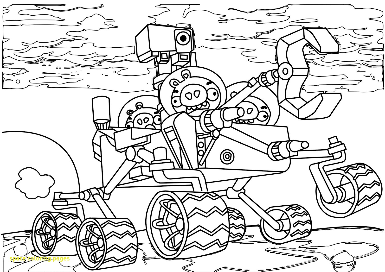 1600x1131 Angry Birds Space Coloring Page Pages With Stu