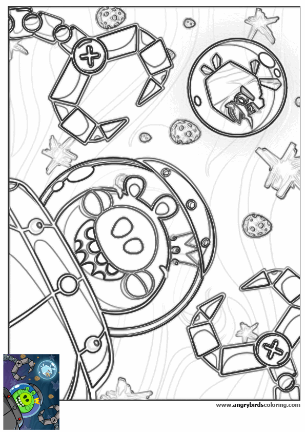 595x842 Angry Birds Space For Coloring