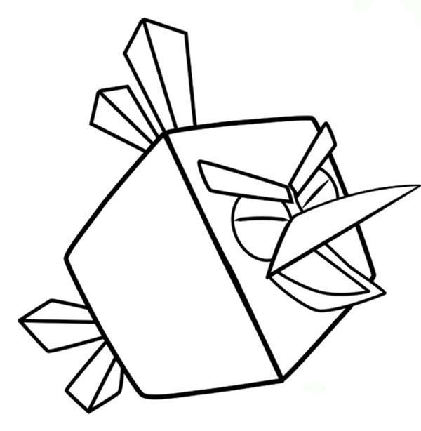 600x614 Ice Bird Is Screaming In Angry Birds Space Coloring Pages Batch