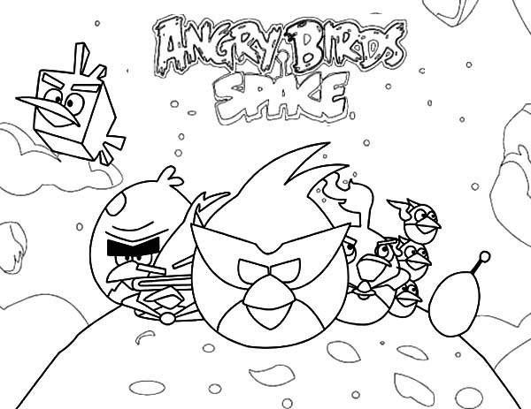 600x463 Popular Game Angry Birds Space Coloring Pages Batch Coloring