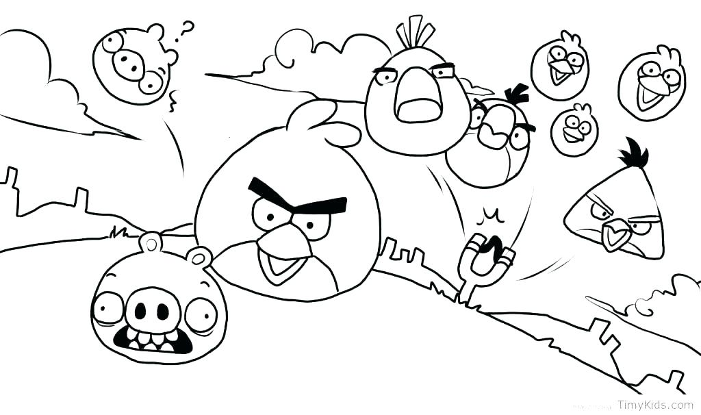 1024x606 Angry Birds Printable Coloring Pages Coloring Pages Angry Birds