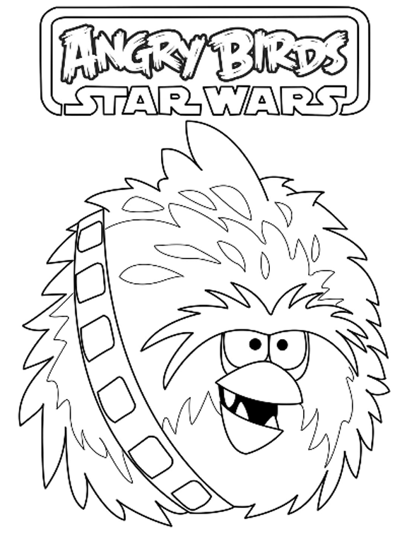 576x756 Angry Birds Star Wars Coloring Pages Birthdays