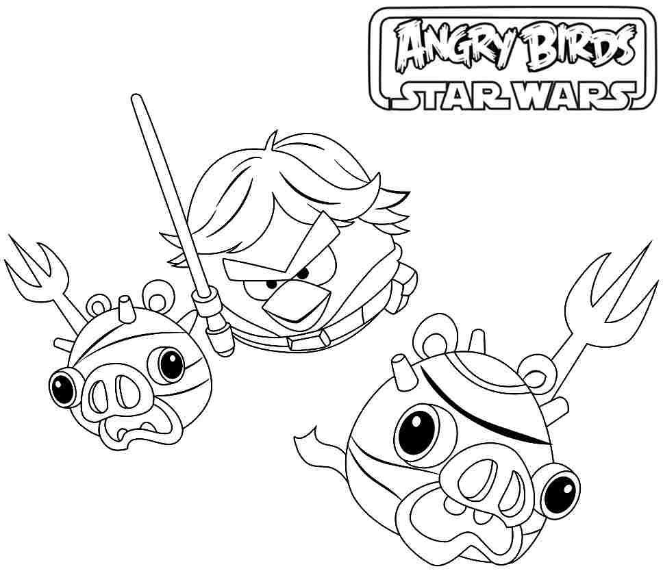 968x834 Angry Birds Star Wars Coloring Pages Printable Many Interesti