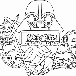 300x300 Angry Birds Star Wars Coloring Pages Stock Kids N Fun