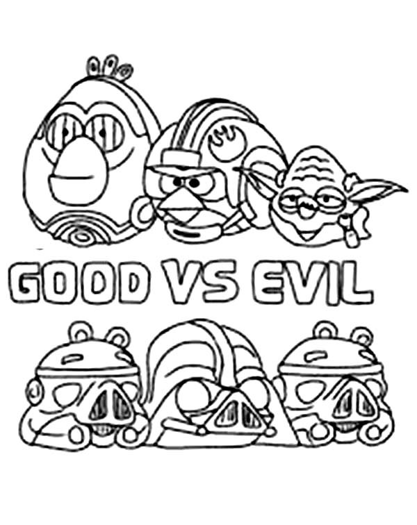 600x756 Angry Birds Star Wars The Good Vs The Evil Coloring Pages Batch