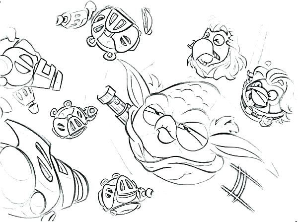 600x447 Angry Bird Color Ing S Ing S Angry Birds Star Wars Coloring Pages