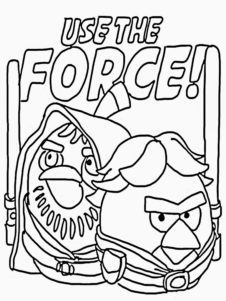 768x1024 Angry Birds Use The Force Star Wars Free Coloring Page Animals