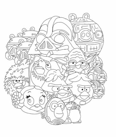 408x480 Coloring Pages Angry Birds Star Wars Coloring Pages School