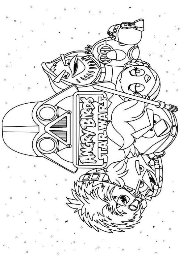 593x840 Kids N Coloring Pages Of Angry Birds Star Wars