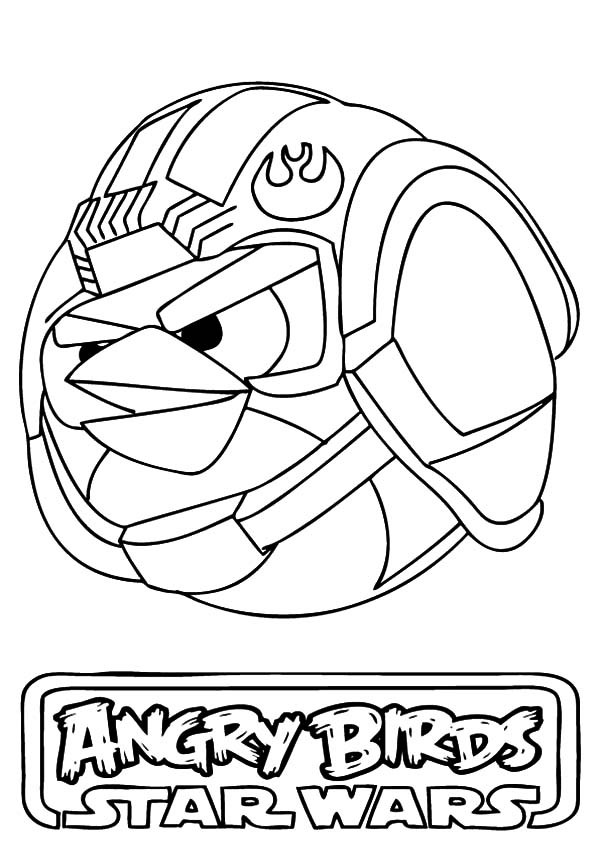 600x849 Luke Skywalker Angry Bird Star Wars Coloring Pages Bulk Color