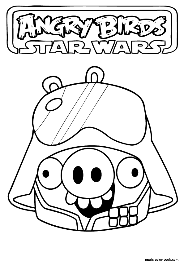 595x842 Printable Angry Birds Star Wars Coloring Pages