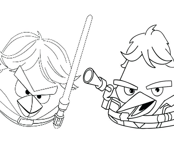 678x567 Star Wars Angry Birds Coloring Pages S S S Angry Birds Star Wars