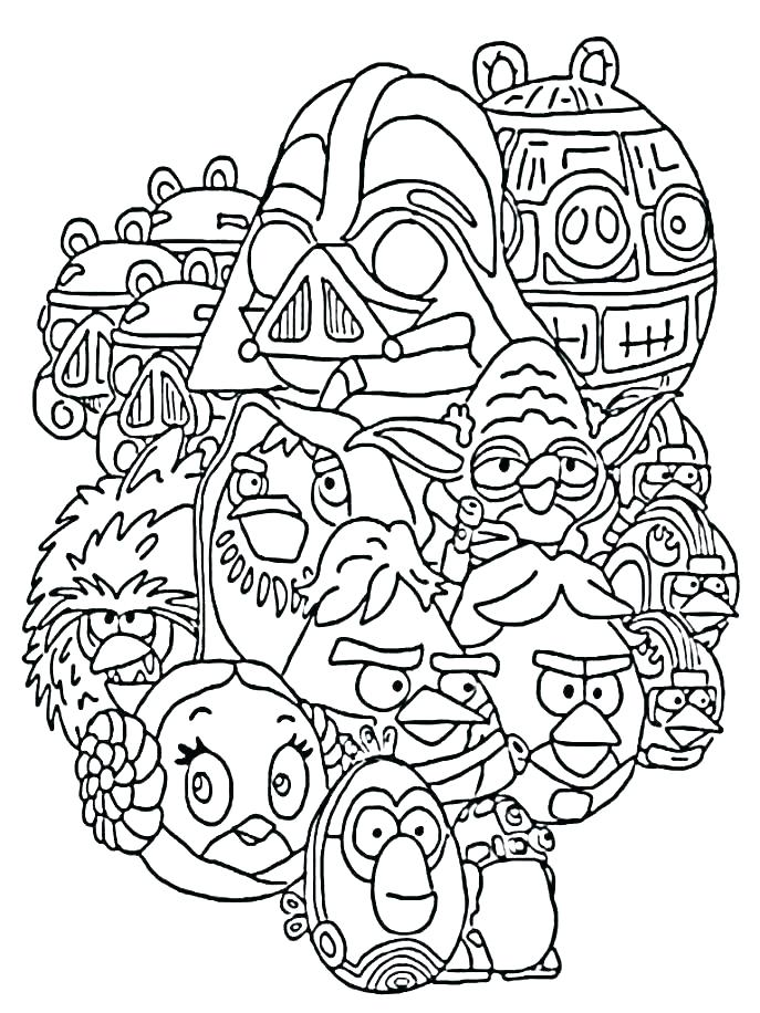 687x916 Angry Birds Star Wars Coloring Pages