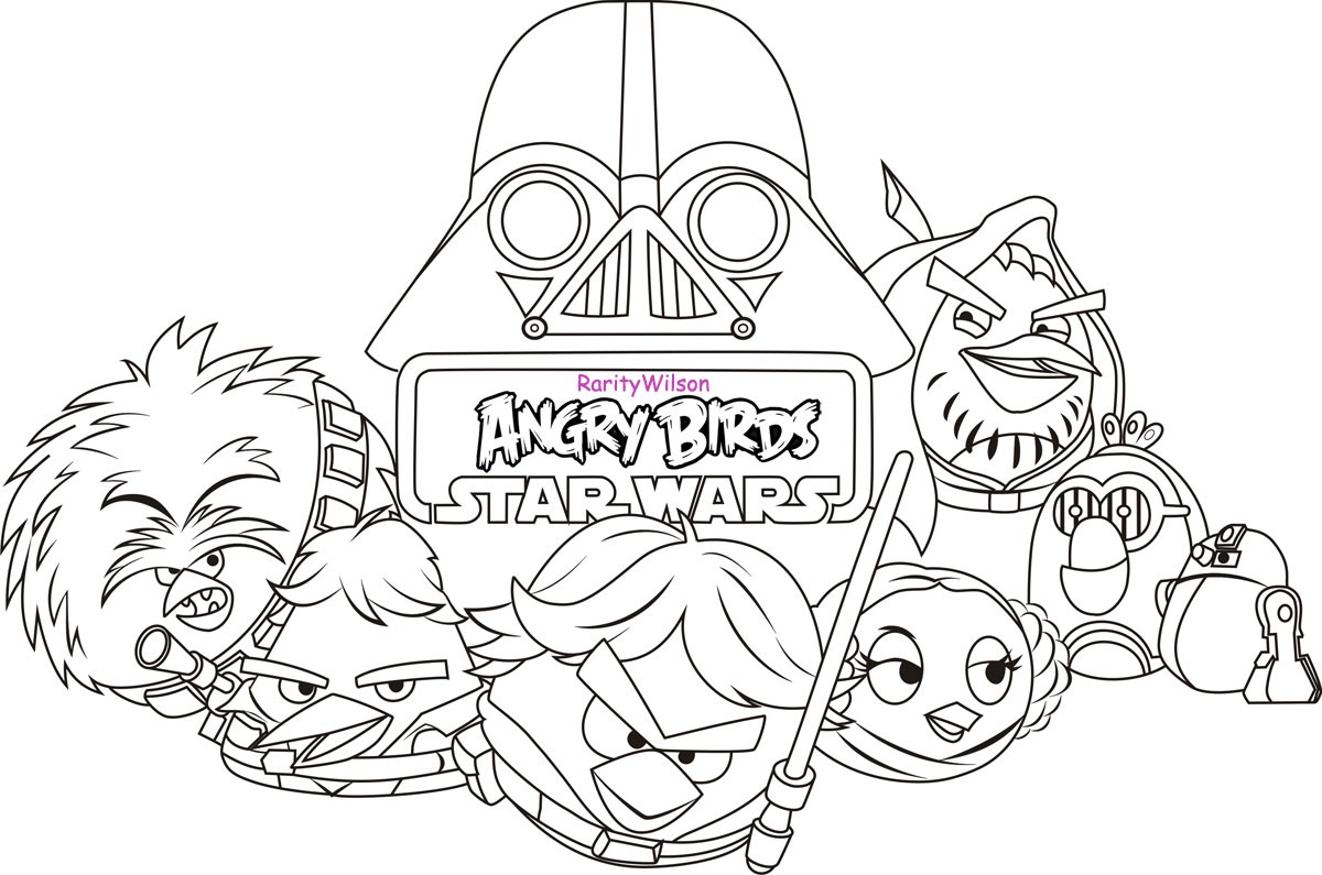 1200x795 Angry Birds Star Wars Coloring
