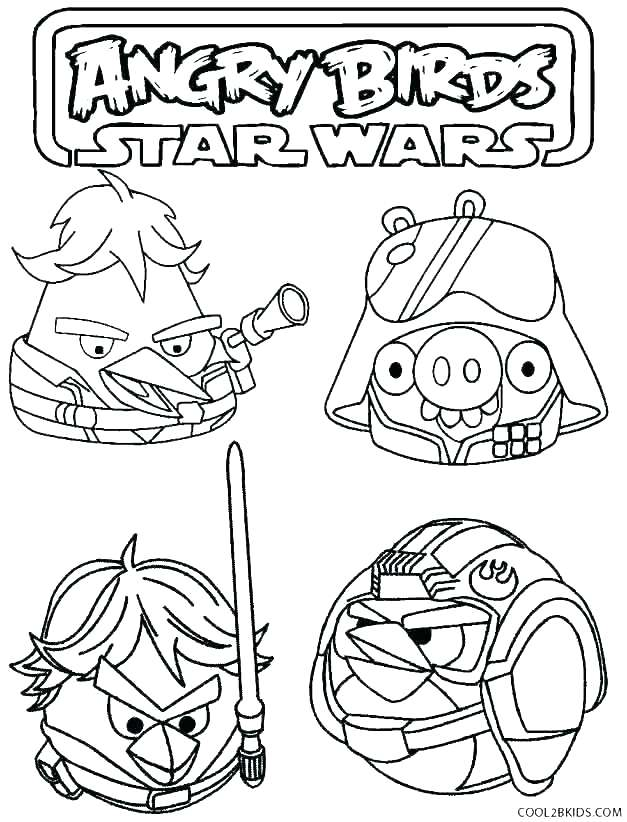 627x822 Angry Birds Star Wars Coloring Page Angry Birds Star Wars Coloring