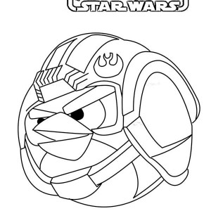 Angry Birds Star Wars Coloring Pages Darth Vader