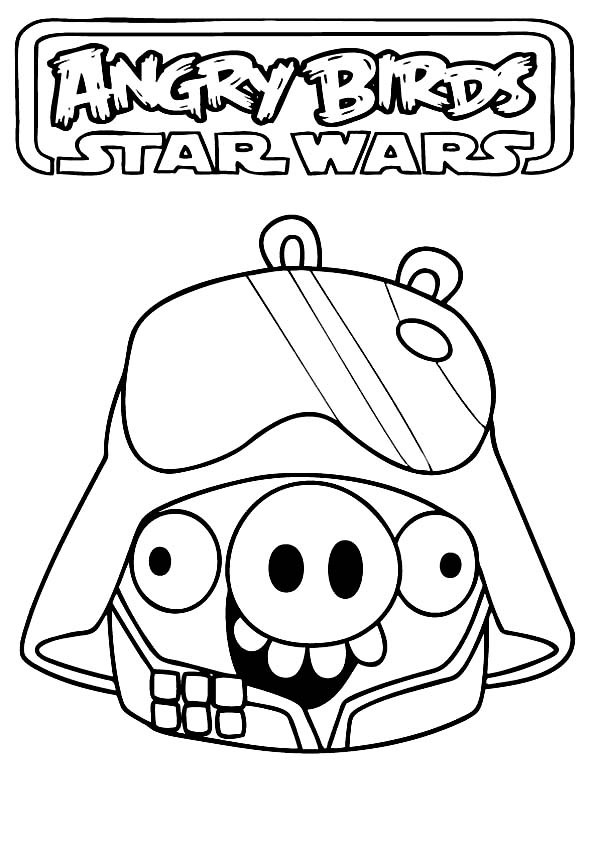 600x849 Angry Birds Star Wars Pig Darth Vader Coloring Pages Batch Coloring