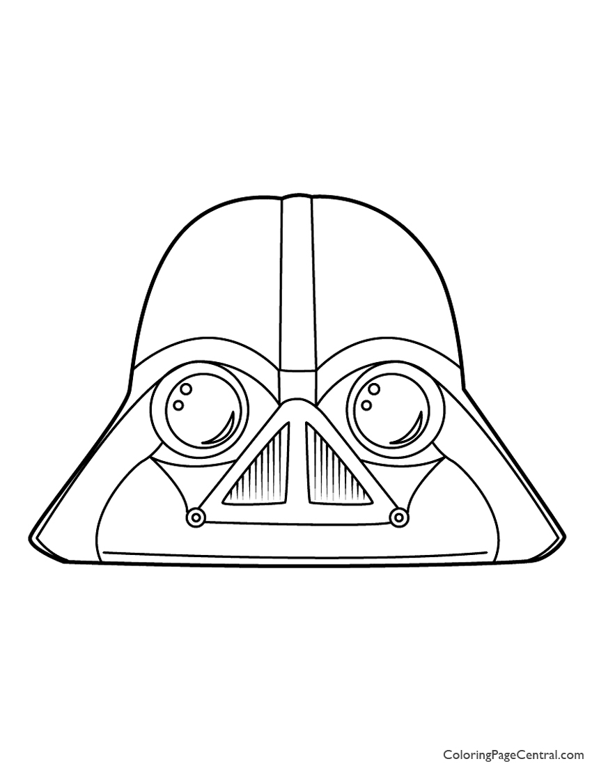850x1100 Angry Birds Star Wars Darth Vader Coloring Page Coloring