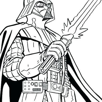 425x425 Coloring Pages Darth Vader
