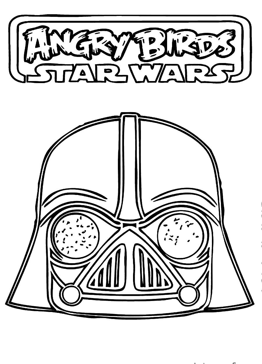 900x1253 Angry Birds Star Wars Coloring Pages