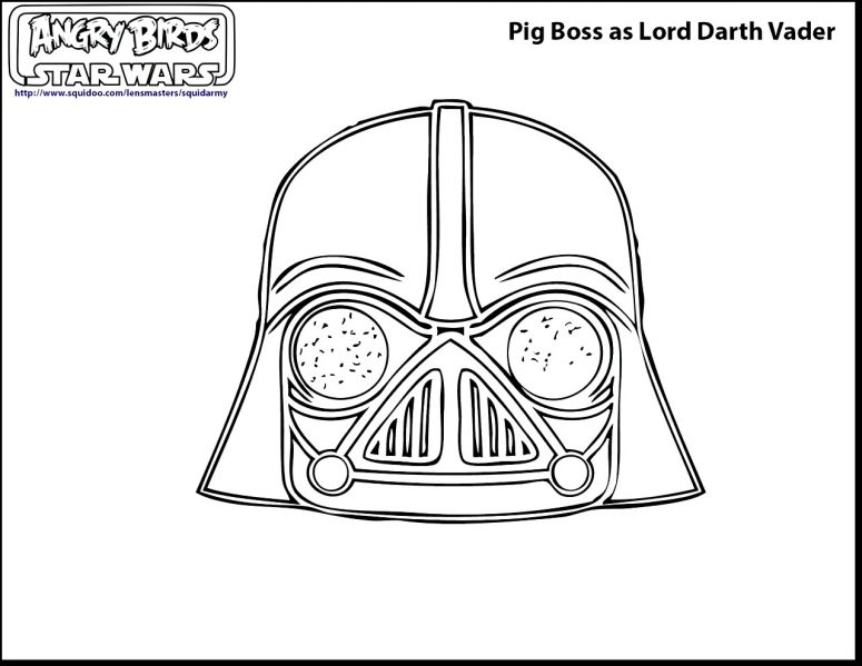 775x599 Angry Birds Star Wars Coloring Pages Darth Vader Coloring Page