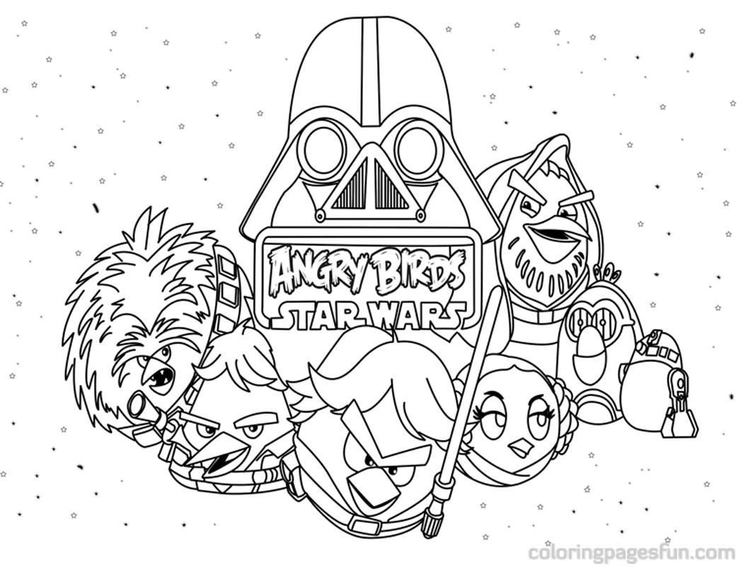 1050x800 Angry Birds Star Wars Coloring Pages Darth Vader Coloring Sheets