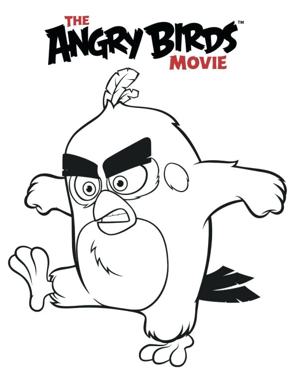 586x768 Free Angry Birds Coloring Pages Angry Birds Bomb Coloring Pages