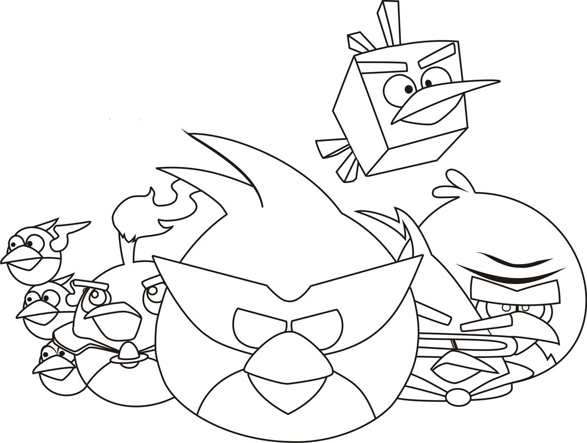 1200x905 Free Printable Angry Bird Coloring Pages For Kids
