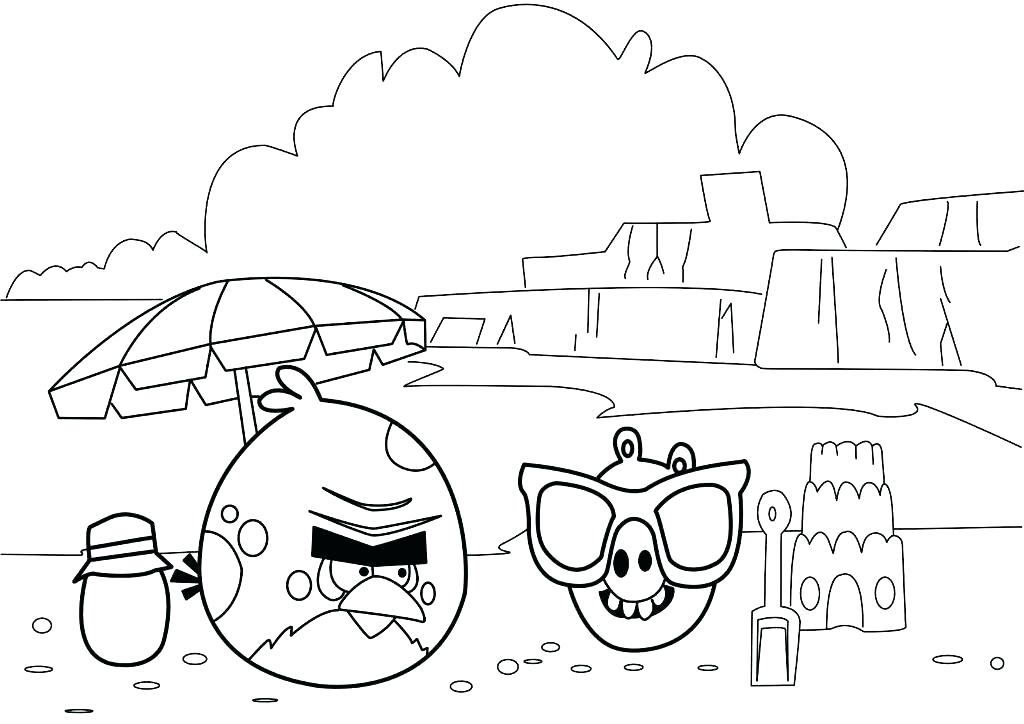 1024x724 Angry Birds Coloring Pages Printable