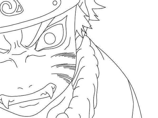 600x450 Anime Face Coloring Naruto Angry Page Pages
