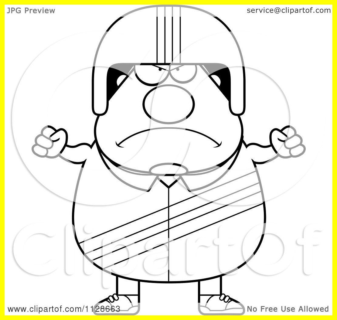 1110x1054 Marvelous Cartoon Clipart Of An Outlined Angry Race Car Driver