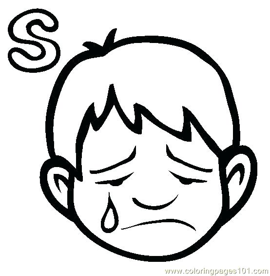 554x565 Sad Face Coloring Page Angry Face Coloring Page Happy Sad Face Sad
