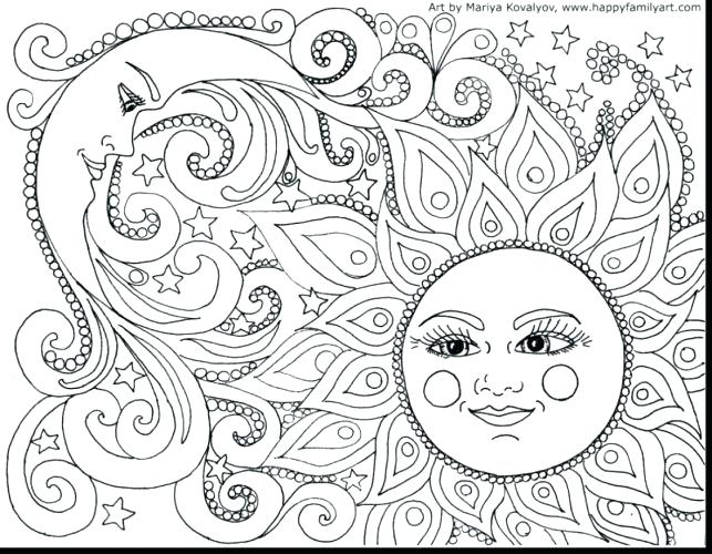 643x500 Abstract Coloring Pages Printable Abstract Art Coloring Page