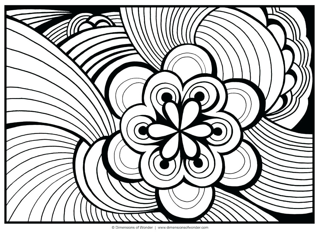 1024x745 Cool Printable Abstract Coloring Pages Abstract Coloring Sheets