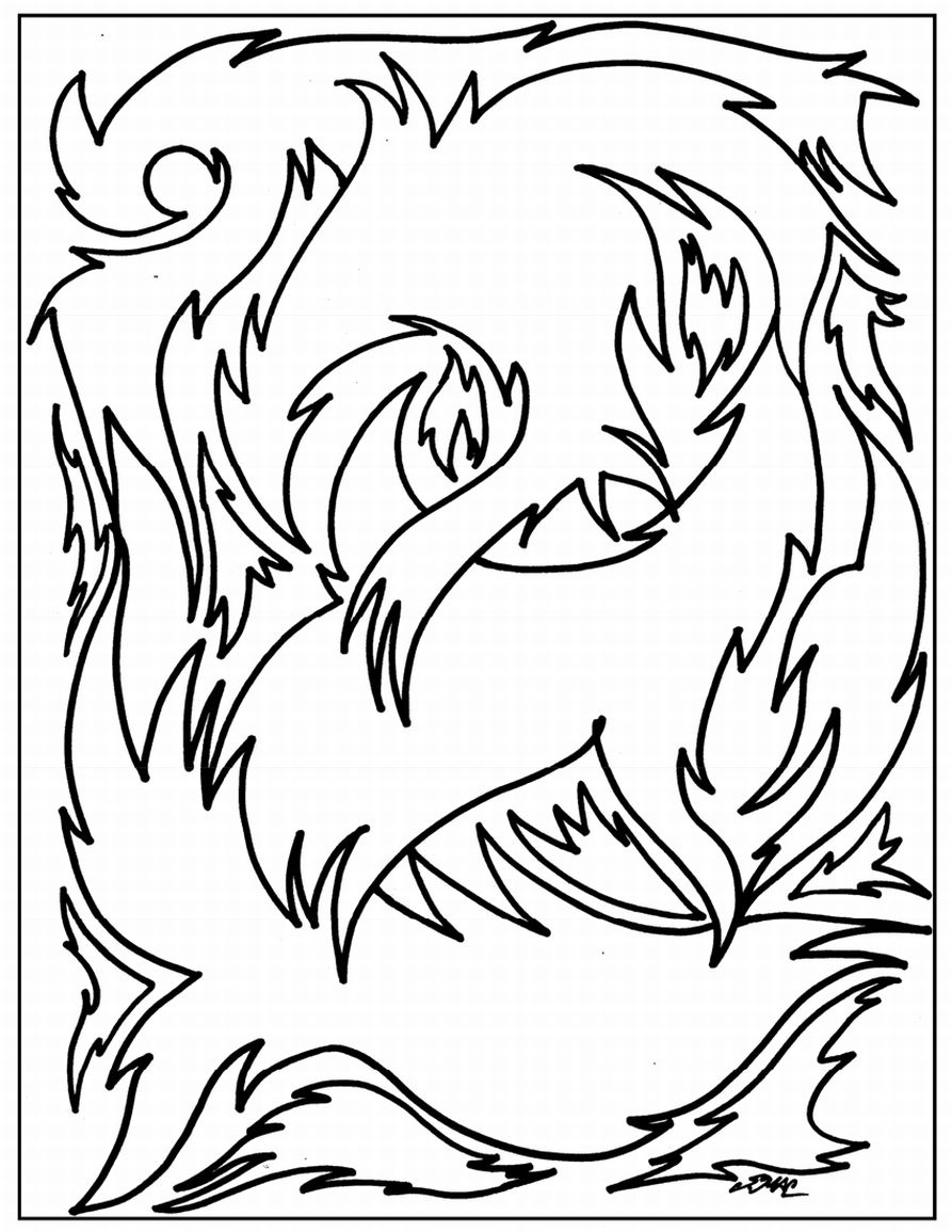 893x1155 Free Printable Abstract Coloring Pages For Kids