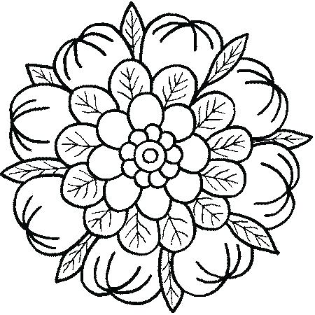 450x450 Abstract Coloring Pages Easy Mandala Coloring Pages Abstract