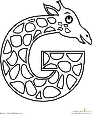 301x374 Animal Alphabet Letters Coloring Pages