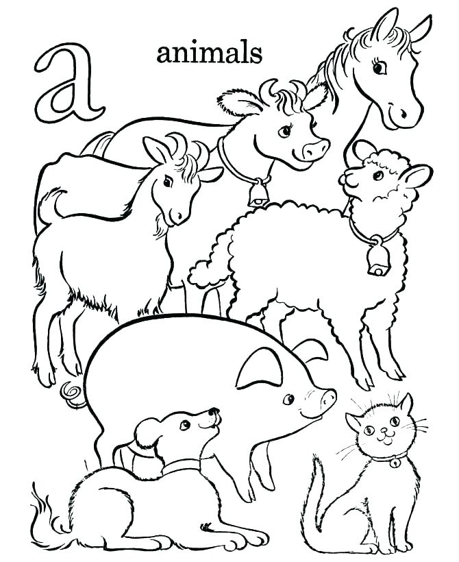 670x820 Alphabet Animals Coloring Pages Animal Coloring Pages Animal