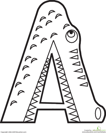 350x438 Letter A Coloring Page Animal Alphabet, Animal And School