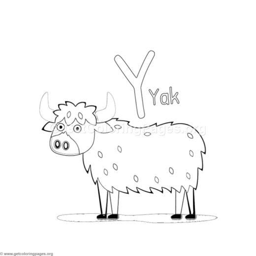 520x520 Animal Alphabet Coloring Pages Children