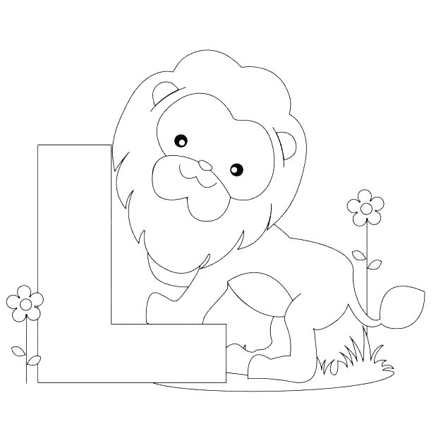 Animal Alphabet Coloring Pages Free at GetDrawings.com | Free for ...