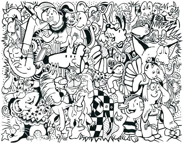 600x470 Collage Coloring Pages Animal Collage Coloring Pages Collage