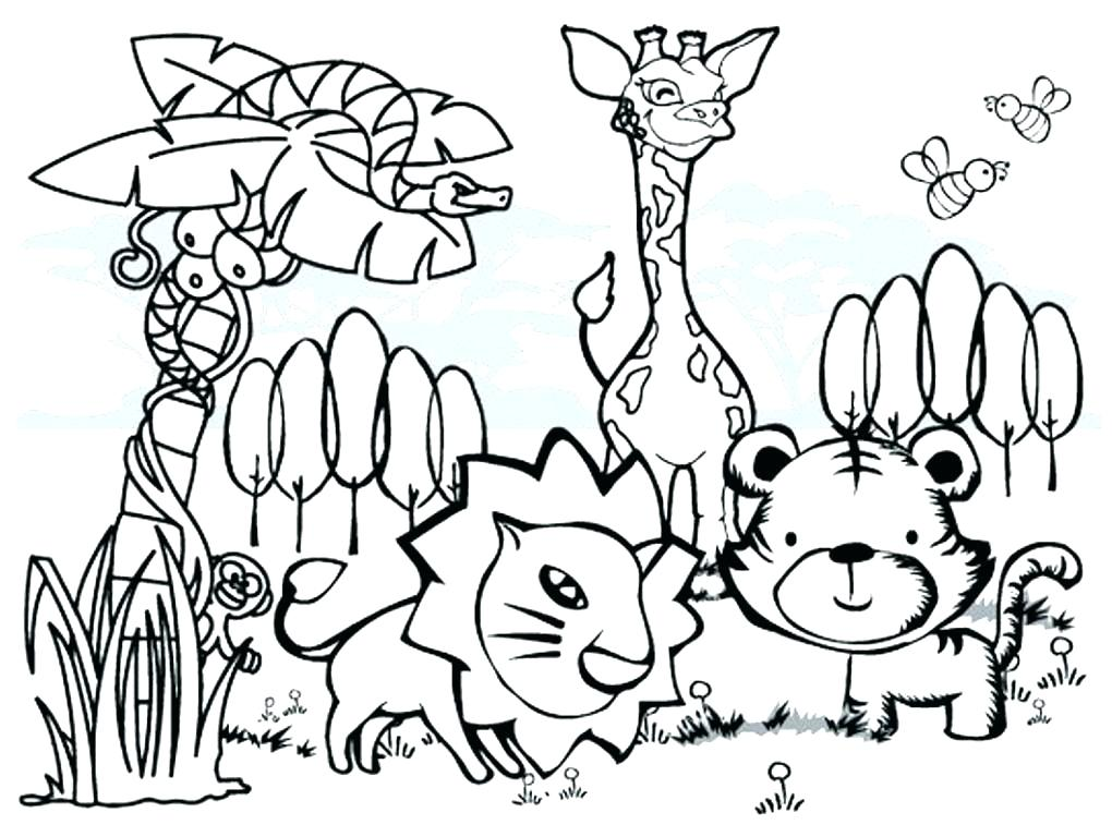 1020x768 Cartoon Animal Coloring Pages Cute Cartoon Animals Coloring Pages