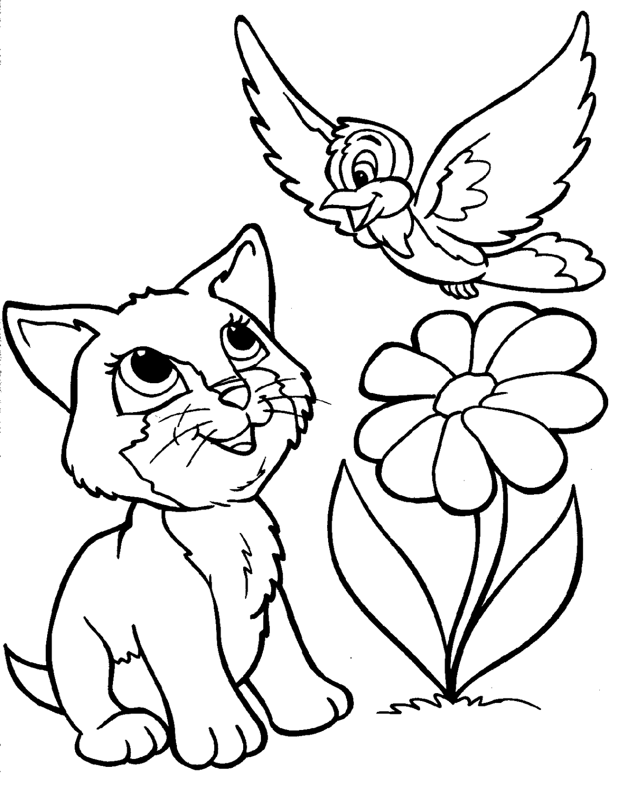 1258x1600 Cat Animal Coloring Pages