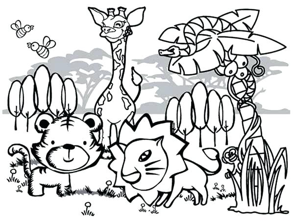 600x452 Cute Animal Coloring Pages Beautiful Cute Animals Coloring Pages