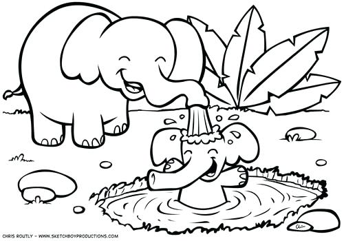 500x350 Luxury Color Pages Or Jungle Animal Coloring Pages Pictures