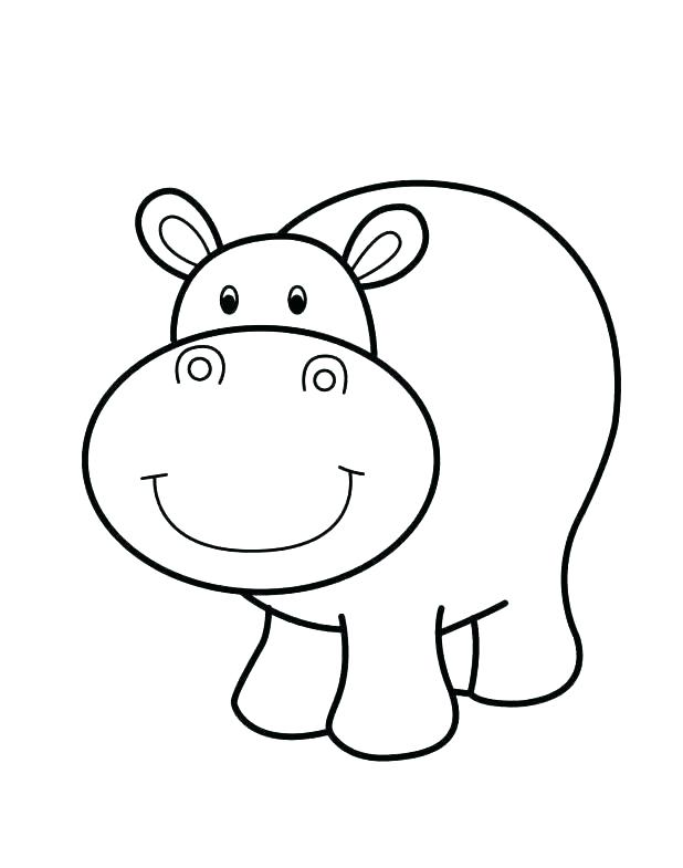 618x785 Easy Coloring Pages For Kids With Easy Animal Coloring Pages Easy