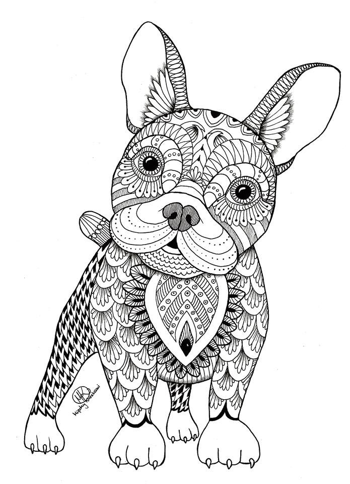 695x960 Animal Mandala Coloring Pages For Adults