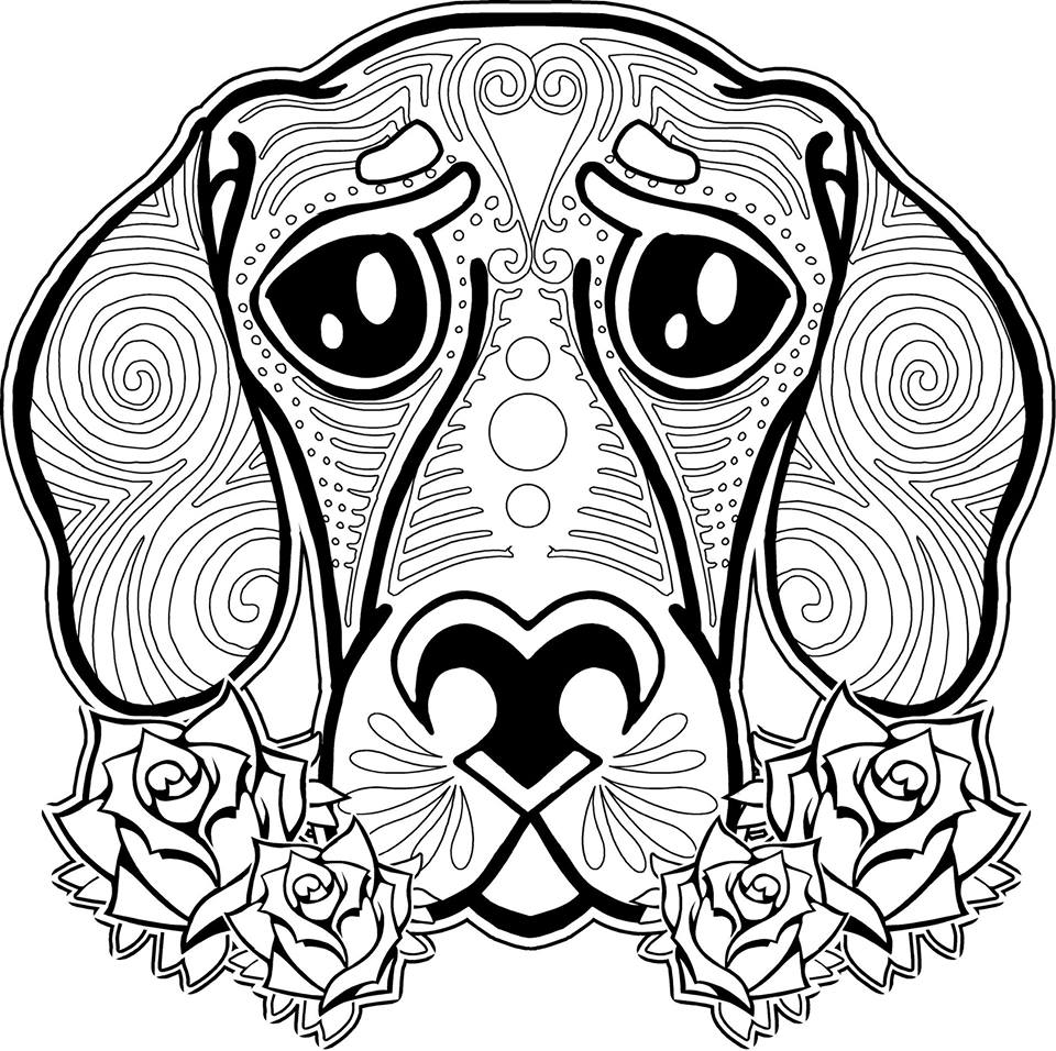 960x956 Animal Coloring Pages For Adults Dog