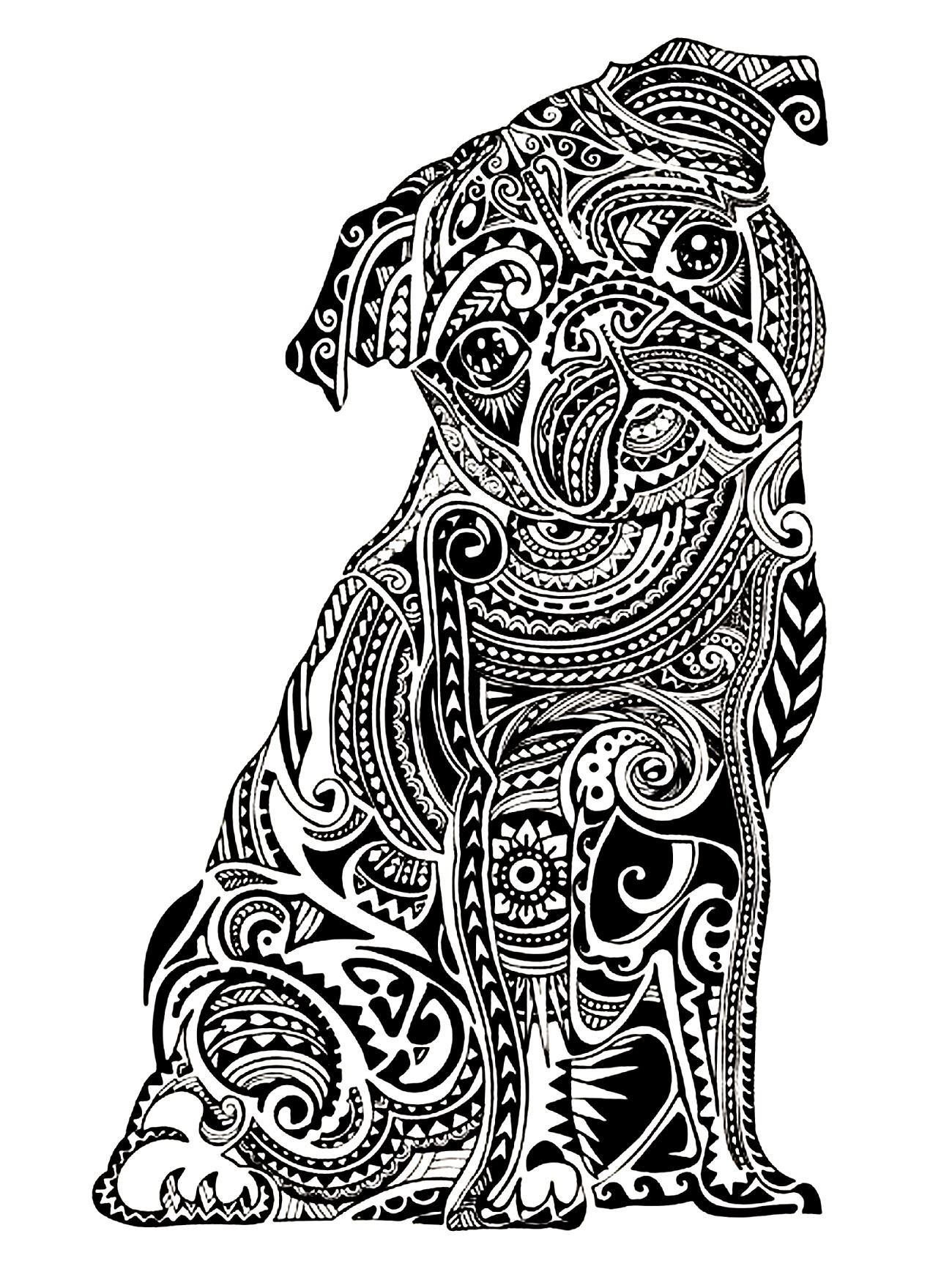 1300x1733 Animal Coloring Pages For Adultstricate Animals Best